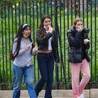 Avec ses camarades dans les rues de New York