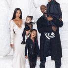Kim, Kanye et leurs enfants, North, Saint et Chicago