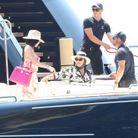 Kylie et Kris Jenner au large de l'Italie