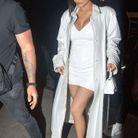 Kylie Jenner en total look white à Greenwich Village