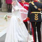 Kate Middleton dans sa robe Alexander McQueen conçue par Sarah Burton