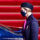 Charlène de Monaco est apparue masquée