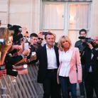brigitte et Emmanuel Macron à la rencontre du public