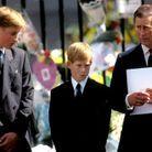 Charles, William et Harry aux funérailles de Lady Di