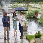 Une visite sous la pluie
