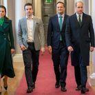 Le couple princier avec le premier ministre et son compagnon