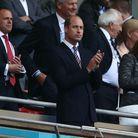Le prince William lors du match Angleterre - Danemark