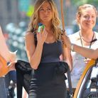"Jennifer Aniston à New-York sur le tournage du film ""Bounty Hunter"""