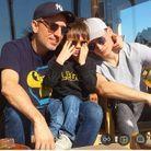 Gad Elmaleh et ses deux fils Noé et Raphaël