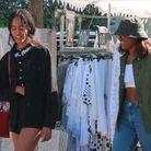 Malia et Sasha Obama au marché