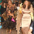 Au premier plan, TIna Knowles, la mère de Beyoncé
