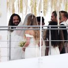 Heidi Klum et Tom Kaulitz durant leur cérémonie de mariage