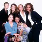 Linda Evangelista, Cindy Crawford, Lauren Hutton, Beverly Johnson, Christy Turlington et Naomi Campbell, en 1993.