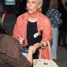 Jane Kaczmarek à la sortie de sa pièce de théâtre