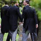 James Matthews arrive à l'église, accompagné de James Middleton