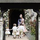 Kate Middleton et les garçons et demoiselles d'honneur