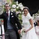 Pippa Middleton et James Matthews à la sortie de l'église