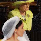 La reine Elizabeth II durant la cérémonie dans la chapelle Saint-Georges