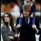 Charles Spencer, sa femme Victoria et leur fille Kitty Spencer en 1993