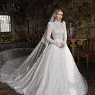 Kitty Spencer en robe Dolce & Gabbana le jour de son mariage avec Michael Lewis