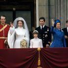 Photo de la famille royale au mariage de la princesse Anne