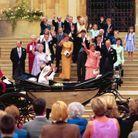 La famille royale salue le couple princier