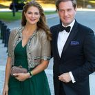 2013 : Madeleine de Suède et Christopher O'Neill lors d'un dîner officiel