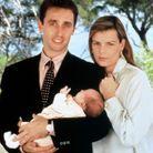 Stéphanie de Monaco, Daniel Ducruet et leur fille Pauline, en 1994