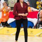 Meghan Markle lors de la finale de basket en fauteuil roulant
