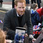 Bain de foule pour le prince Harry