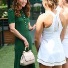 Kate Middleton rencontre des joueuses de tennis