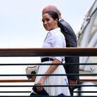 Meghan Markle arrivant à Wimbledon