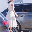 Meghan Markle était resplendissante dans sa robe imprimée vichy