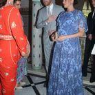 Le couple princier avec les sœurs du roi Mohammed VI