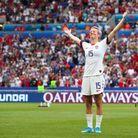 Megan Rapinoe célèbre son titre de championne du monde