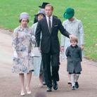 La reine d'Angleterre, le prince Philip et le prince Edward