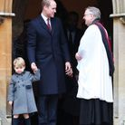 Noël 2017, le prince George et le prince William à la sortie de la messe
