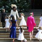 Tous les enfants d'honneur se dirigent vers la chapelle Saint-Georges