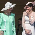 Camilla Parker Bowles, en mode pistache, très complice avec sa nouvelle belle-fille