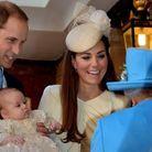 Avec la reine, à son baptême.