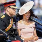 Le prince Harry et Meghan Markle arrivent à la cérémonie