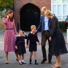 Le prince George et la princesse Charlotte rencontrent la maîtresse