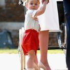 Le prince George, surpris de voir tous ces photographes !