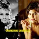 Audrey Hepburn et Audrey Tautou