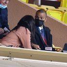 Le couple assiste au match qui oppose l'AS Monaco à l'Olympique lyonnais