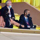 Tony Parker et Alizé Lim au stade Louis II, à Monaco