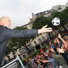 Zidane face au public