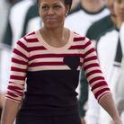 Michelle Obama en pull Sonia by Sonia Rykiel