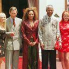 Nelson Mandela a reçu les Spice Girls avec le prince Charles