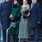 Le couple princier avec Victoria de Suède et son mari Daniel